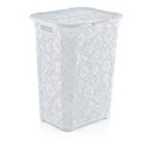 Superio Lace Laundry Hamper - 22-in - White