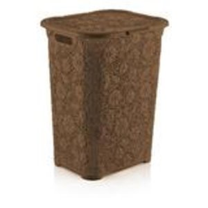 Superio Lace Laundry Hamper - 22-in x 17-in - Brown