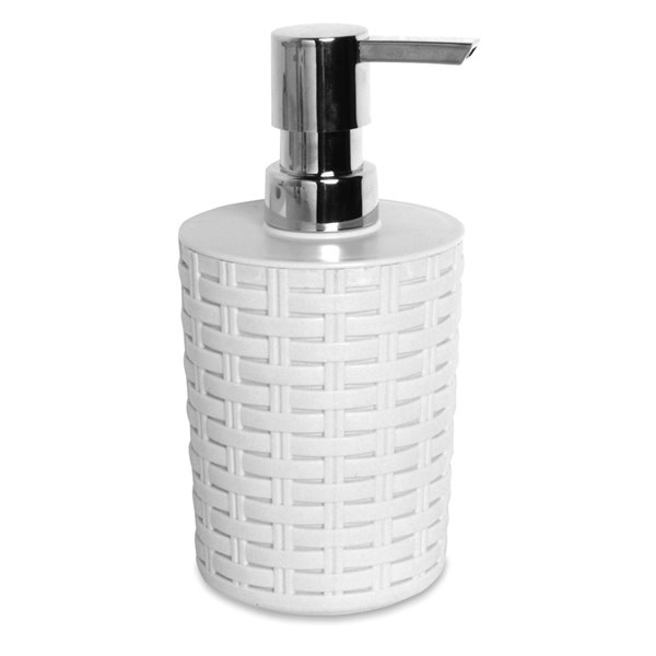 Superio Liquid Soap Dispenser - 7.5-in - White