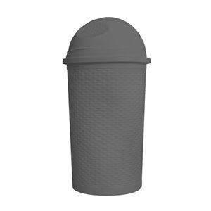 Poubelle à pédale de Superio, 15 L, 22 po, gris