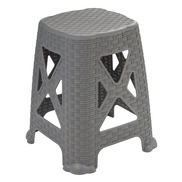 Superio Non Folding Step Stool - 18-in - Grey