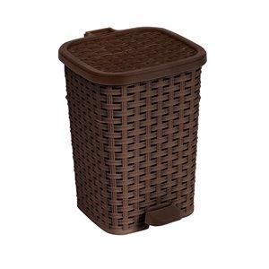 Poubelle à pédale de Superio, 6 L, 10,5 po, brun