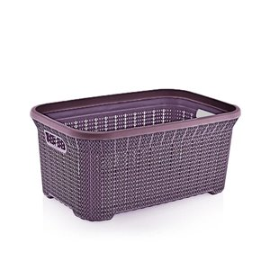 Superio Knit Laundry Basket - 21.5-in x 14.9-in - Purple