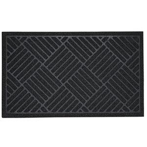 Paillasson rectangulaire de Superio, 17 po, noir