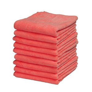 Superio Ultra Microfiber Miracle Cloths - 16-in - Red - Pack of 25
