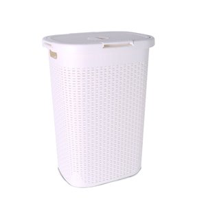 Superio Palm Luxe Laundry Hamper - 25-in x 17.5-in - Off-white
