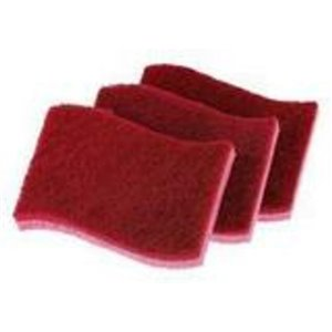 Superio Non-Scratch Cellulose Sponges - Red - Pack of 3