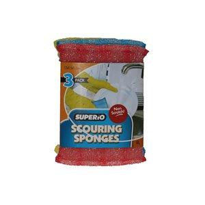 Superio Scrubbing Sponges - Pack of 3