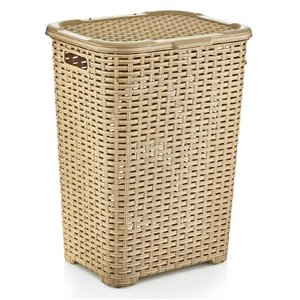 Superio Palm Luxe Laundry Hamper - 23-in x 17-in - Off-white
