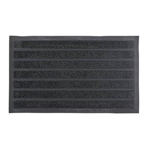 Paillasson rectangulaire de Superio, 17 po x 29 po, rayures noires