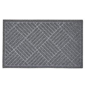 Paillasson rectangulaire de Superio, 17 po, gris