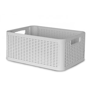 Superio Plastic Storage Box - 18.9-L - Beige