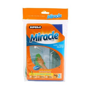 Superio Ultra Microfiber Glass and Mirror Cloth - Pack of 2