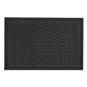 Paillasson rectangulaire de Superio, 25 po x 34 po, noir