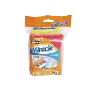Superio Ultra Microfiber Miracle Sponges - Pack of 3