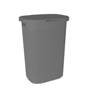 Superio Palm Luxe Laundry Hamper - 25-in x 17.5-in - Grey