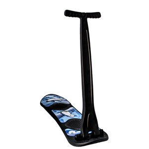 Superio Scooter Snow Sled - Collapsible Handle - Black