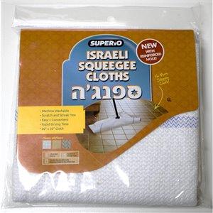 Superio Floor Squeegee Cloth - White