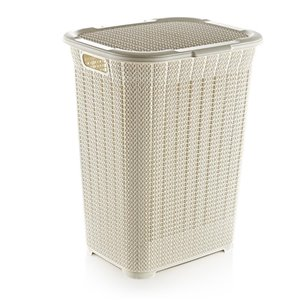 Superio Lace Laundry Hamper - 22-in - Off-white
