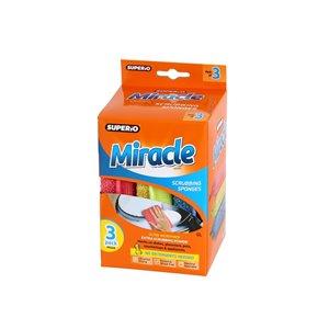 Superio Miracle Ultra Microfiber Scrubbing Sponge - Pack of 3
