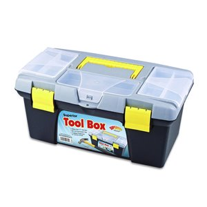 Superio Compact Tool Box with Convenient Lift Out Tray