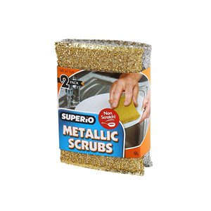 Superio Metallic Scrubbers - Pack of 2