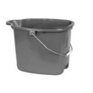 Superio Plastic Mop Bucket - 16-L - Grey