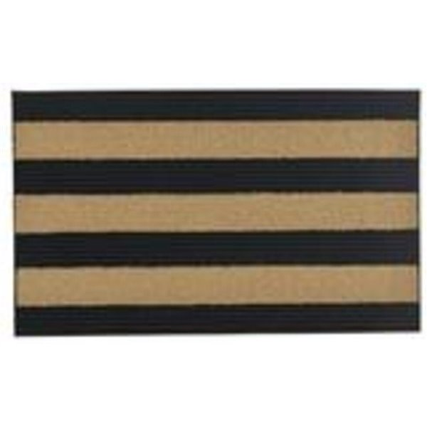 Superio Door Mat - Rectangular - 17-in x 29-in - Black/Beige