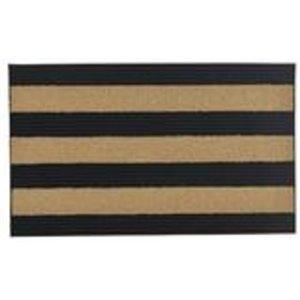 Paillasson rectangulaire de Superio, 17 po x 29 po, noir/beige