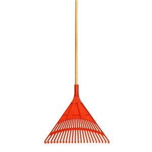 Superio Leaf Rake with 48-in Wooden Handle