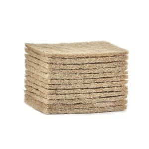 Superio Natural Sisal Scrubbing Pads - Pack of 12