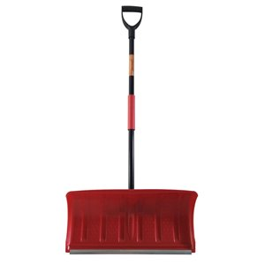 Superio Snow Shovel with Metal Blade - Red