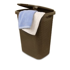 Superio Palm Luxe Laundry Hamper - 21-in x 17-in - Brown