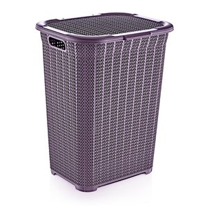 Superio Lace Laundry Hamper - 22-in x 17-in - Purple