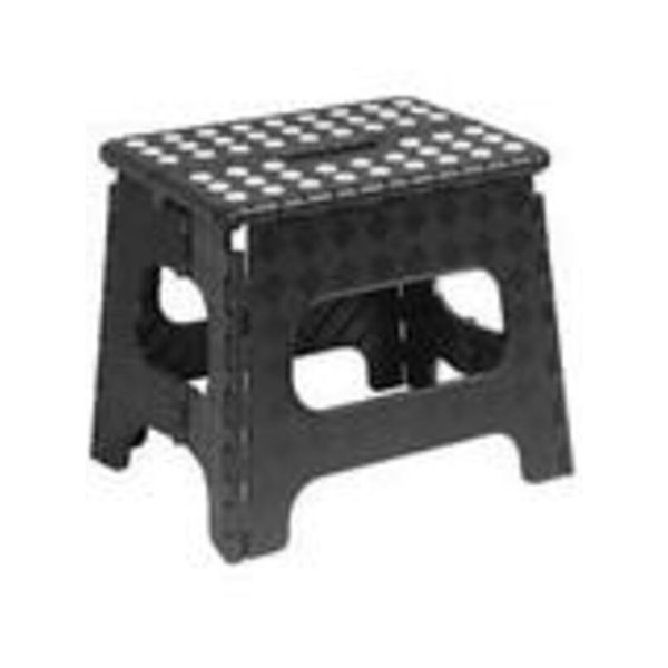 Superio Folding Step Stool - 11-in - Black