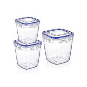 Superio Deep Food Plastic Container - Set of 3
