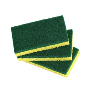 Superio Heavy Duty Cellulose Scrub Sponges - Pack of 3
