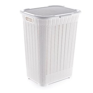 Superio Lace Laundry Hamper - 22-in x 17-in - White