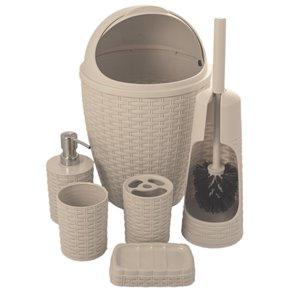 Ensemble de 6 accessoires pour salle de bains de Superio, beige