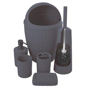 Ensemble de 6 accessoires pour salle de bains de Superio, gris