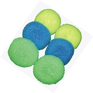 Superio Plastic Scouring Pads - Pack of 6