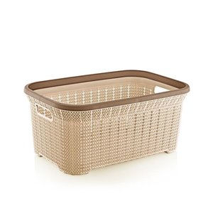 Superio Knit Laundry Basket - 21.5-in x 14.9-in - Brown