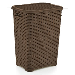 Superio Palm Luxe Laundry Hamper - 23-in x 17-in - Brown