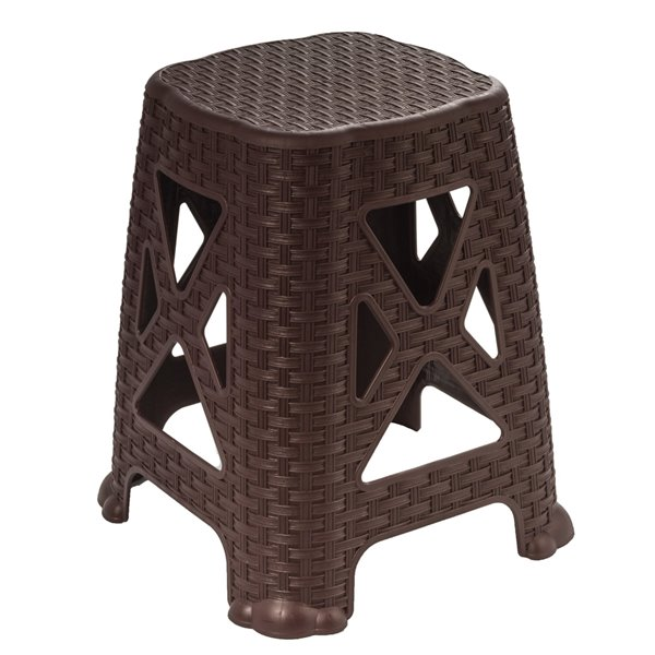 Superio Non Folding Step Stool - 18-in - Brown