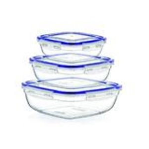 Superio Square Food Plastic Container - Set of 3
