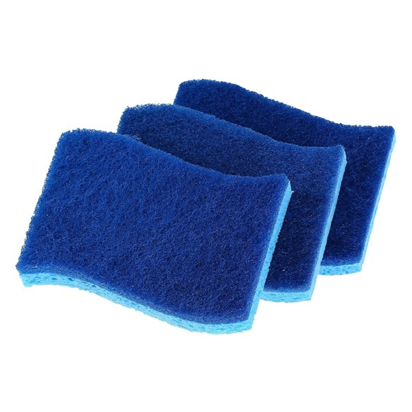 Superio Non-Scratch Cellulose Sponges - Blue - Pack of 3