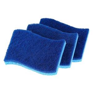 Éponge anti-égratignure de Superio, bleue, paquet de 3