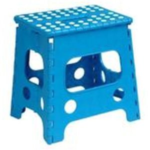 Superio Folding Step Stool - 13-in - Blue