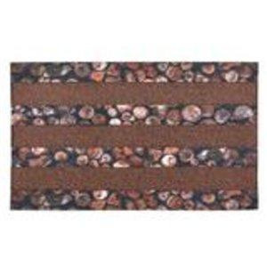 Paillasson rectangulaire de Superio, motif de galet, 17 po x 29 po, brun