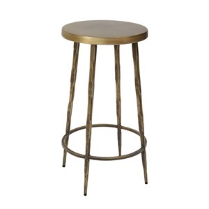 LH Imports Venus Counter Stool - 14-in x 26-in - Brass